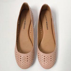 Lucky Brand Cut Out Blush Ballet Flats